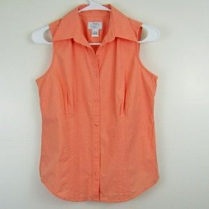 Ann Taylor Loft Woman's Button Up Tank Top